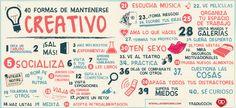 40 maneiras de se manter criativo.