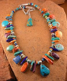 Inspired antiquity: In the southwest: jewelry that makes a lasting impression . - Inspired antiquity: in the southwest: jewelry that makes a lasting impression, … – Inspired ant - Jewelry Crafts, Jewelry Art, Gemstone Jewelry, Beaded Jewelry, Silver Jewelry, Fine Jewelry, Jewelry Necklaces, Jewelry Design, Fashion Jewelry