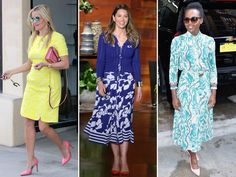The Bright Idea: Celebs' Unexpected Colorful Shoe-and-Dress Pairings Are Your Spring Outfit Inspo http://stylenews.peoplestylewatch.com/2016/04/06/bright-dress-bold-pumps-celebrity-spring-dresses/