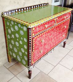 Emily's Original Art: Funky Furniture #refurbishedfurniture #funkyfurniture