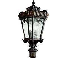 Kichler 9565LD Tournai 4 Light Bronze Outdoor Post Lighting #delmarfans #dreamlighting