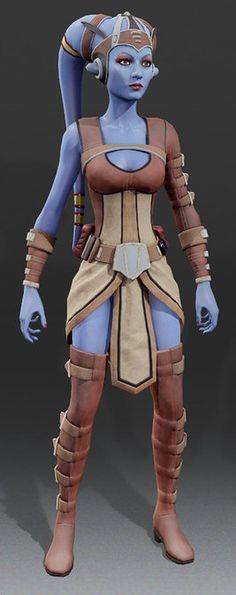 Ara Barotta from Kinect Star Wars Jedi Padawan Apprentice Twi'lek Xbox video game