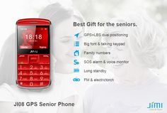 Jimi phone for seniors, GPS tracking, SOS button, simple interface