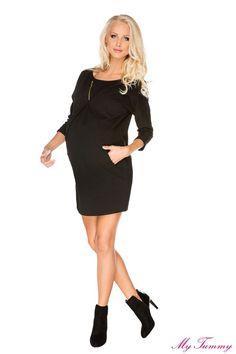 Dresowa sukienka Paula czarna