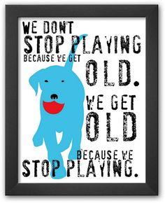"Art.com ""Don't Stop Playing"" Framed Art Print by Ginger Oliphant     <>  @kimludcom"