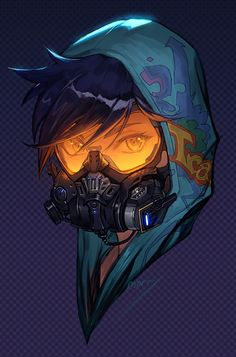 Overwatch - Graffiti Tracer Skin Portrait // fff that skin is so good Character Concept, Character Art, Concept Art, Character Design, Overwatch Tracer, Tracer Art, Overwatch Comic, Costume Steampunk, Cyberpunk Kunst