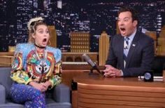 """cool Miley Cyrus, Jimmy Fallon Video: Watch """"Tonight Show"""" Interview!"""