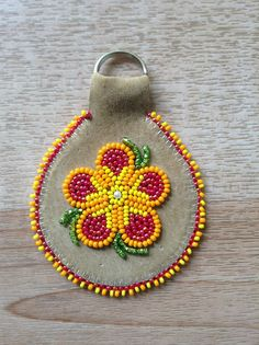 A keychain that I made; Seen the design on a flyer for the Adaka  Festival in the Yukon and liked it :) Carmen Dennis