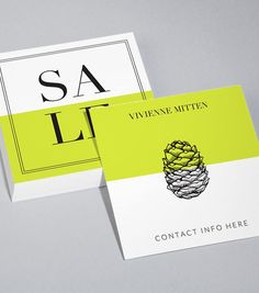 Square Business Card designs - Simply Does It