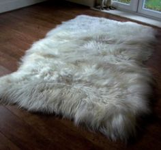 Large Sheep Skins Rugs/ Scandinavian House Carpets/ Bedside Fluffy Rugs/Sheep Skin Throw/ Sheepskin Pelts/ Three Snails