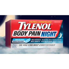 Save $5 on 40count of Extra Strength Tylenol Body Pain night Printable Canada