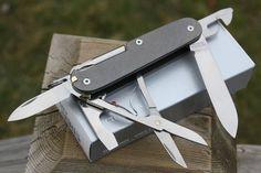 SAKModder Custom Victorinox Titanium Super Tinker Swiss Army Knife ...