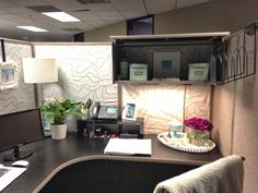 While I'm Here...: Cubicles Suck... A Makeover...  I'd feel much better about my little corner if the world too.