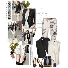 """Runway to Realway: Floral Jeans"" by minnieromanovich on Polyvore"
