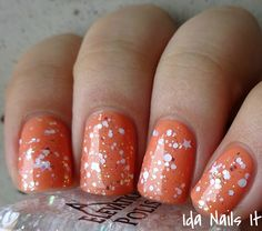 "Ida Nails It:  Elevation Polish ""Camels In the Snow"" (over Elevation Polish ""Yungang Grottoes"")"