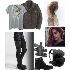 Shop this look. Only on Fashmates. Zombie Apocalypse Outfit, Apocalypse Fashion, Apocalypse Survival, Punk Outfits, Cute Casual Outfits, Outfits For Teens, Fashion Outfits, Riggs Chandler, Runners Outfit