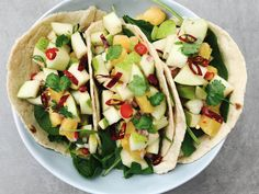 Pear and Pineapple Salsa Pineapple Salsa, Pear Recipes, Tacos, Mexican, Herbs, Cooking, Ethnic Recipes, Spreads, Dips