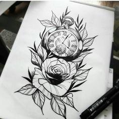 4 Tattoo, Flash Art Tattoos, Cover Tattoo, Rose Tattoos For Women, Tattoos For Guys, Cool Tattoos, Tatoos, Rose Drawing Tattoo, Tattoo Sketches