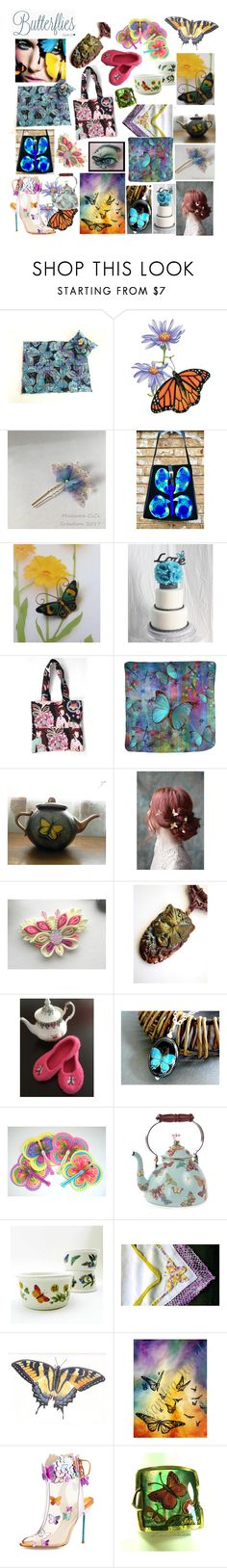 Summer Favorites With Butterflies by belladonnasjoy on Polyvore featuring Sophia Webster, Portmeirion, MacKenzie-Childs, Farfalla and modern
