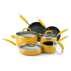 Rachael Ray Porcelain Enamel Nonstick 10-Piece Cookware Set, Yellow List Price:	$235.00 Price:	$139.99 http://www.amazon.com/gp/product/B001IDY4XC/ref=as_li_ss_tl?ie=UTF8=1789=390957=B001IDY4XC=as2=wonderfulrota-20 \ #Rachael #Ray #Porcelain #Enamel #Nonstick #10-Piece #Cookware #Yellow #Amazon #Kitchenware