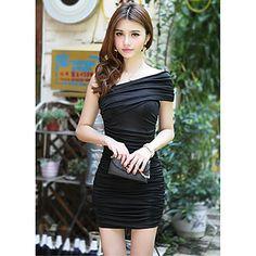 Women's Pure Color Sexy Mini Dress – USD $ 11.19