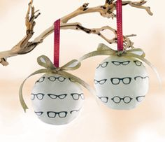 Love these Retro Glasses fabric ornaments by Dorolimited!
