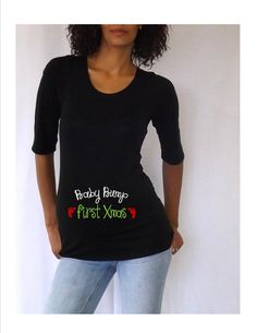 17de1a55 Items similar to Black Christmas Maternity Shirt/Tee/Top
