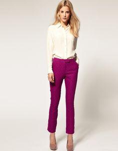 purple lace pants