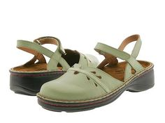Naot Footwear Gardenia Mint Leather/Lime Suede Strip - 6pm.com