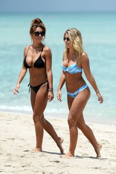 A Bikini A Day bloggers, Devin Brugman and Natasha Oakley showed off their different bikini personalities recently in South Beach. See more of the hottest celebrity swimwear here.