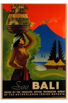 #vintage #travel #poster #Bali