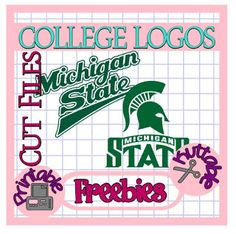 25 Days of College Logos Cut Files! Michigan State Spartans