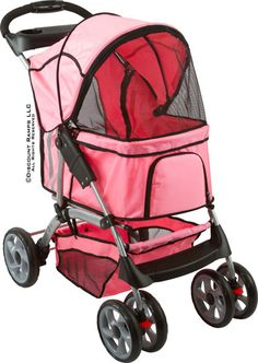 Night Rider Heavy Duty Pet Stroller in pink from Discount Ramps.