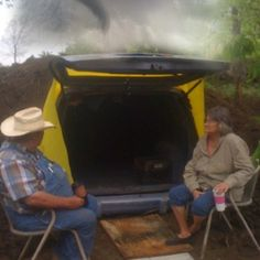 Redneck Storm Shelter - I'm all for using what you have around the house!