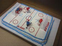 His 27th Birthday Hockey Cake! #NHL #Rangers #Hockey @NHL