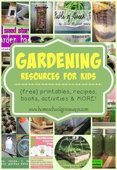 FREE Gardening Printables, Activities and Resources #kidsgardening