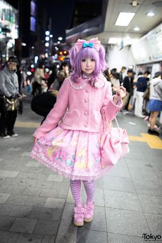"tokyo-fashion:  Ran into Moco (designer of Strawberry Planet) at Harajuku Station. She embodies the word ""kawaii"" and she's always so sweet too!"