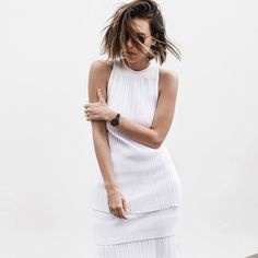 all white street style resort summer josh goot weekend inspo modern legacy of Vogue, Block Dress, Lifestyle Clothing, Casual Fall Outfits, All White, Pure White, Spring Summer Fashion, Vintage Ladies