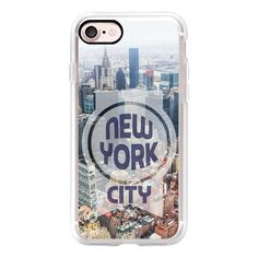 New York City buildings - iPhone 7 Case, iPhone 7 Plus Case, iPhone 7... ($40) ❤ liked on Polyvore featuring accessories, tech accessories, iphone case, apple iphone cases, iphone cover case, slim iphone case and iphone cases