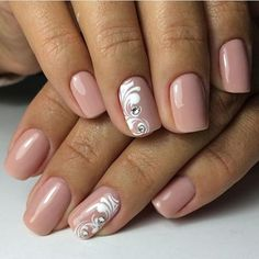 Nude nais with swirl and rhinestone