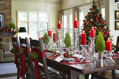 Decorar la Mesa del Comedor para Navidad Dinning Christmas Decorations Dining Table by artesydisenos.blogspot.com