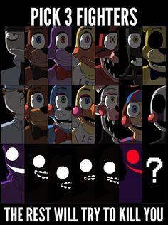 Vincent, Golden Freddy and Mangle I guess......