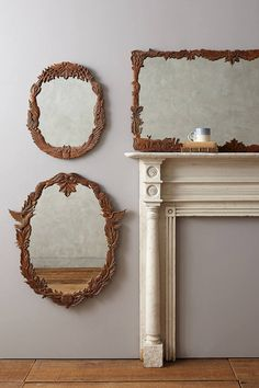 Anthropologie Handcarved Menagerie Mirror