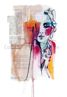 Sense V // A4 Giclée print from an original by hollysharpe on Etsy, £15.00