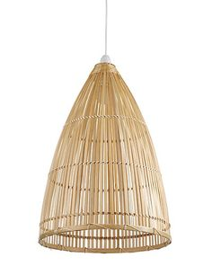 Beautiful Handcrafted Bamboo Pendant Lamp From Marks Spencer