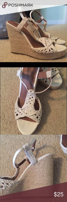 Lucky Brand Wedges Great condition, looks brand new!! I just never wear them anymore!! Lucky Brand Shoes Wedges