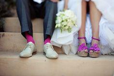 Colored shoes and socks ♥ http://www.kinneysystemshairdesign.net