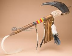 "Native American Buffalo Horn Rattle 20"""" (r110)"