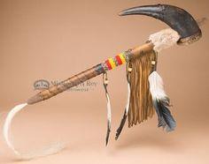 "Native American Buffalo Horn Rattle 20"""" (r110)"
