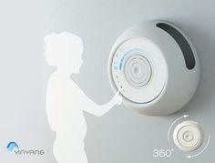 Yin Yang aire acondicionado cuenta con flujo de aire ajustable, 360 grados  Diseñadores : Omar Capalbo y Shirin Hamzelou. Tuvie | http://www.tuvie.com